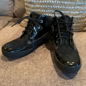 Womens TIMBERLAND Black Suede Leather Ankle Boots